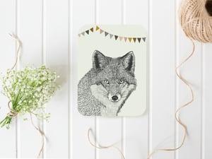 Image of Affiche renard et fanions A3