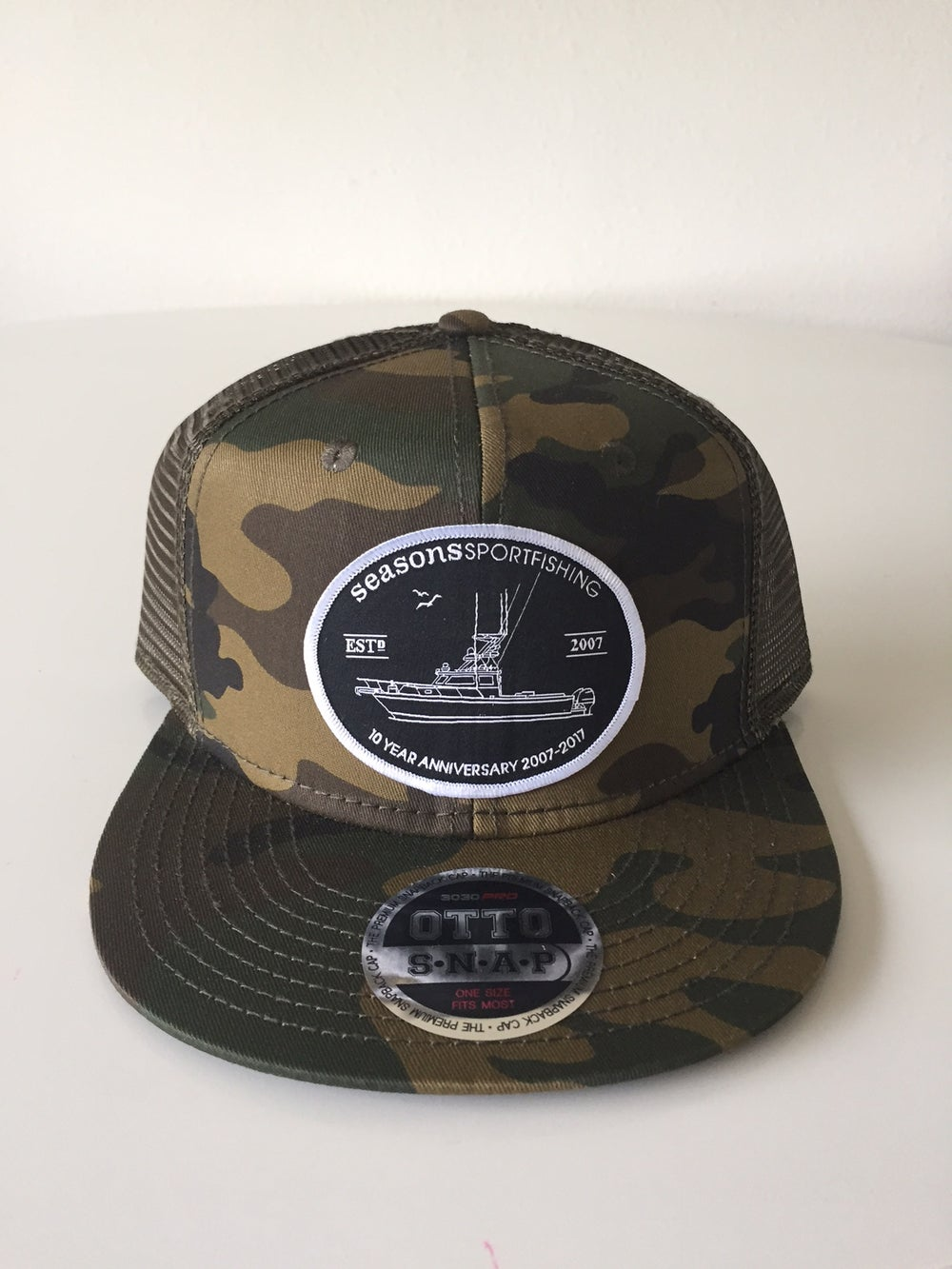 Image of SEASONS - CAMO / CAMO MESH SNAP BACK - 10 YEAR ANNIVERSARY