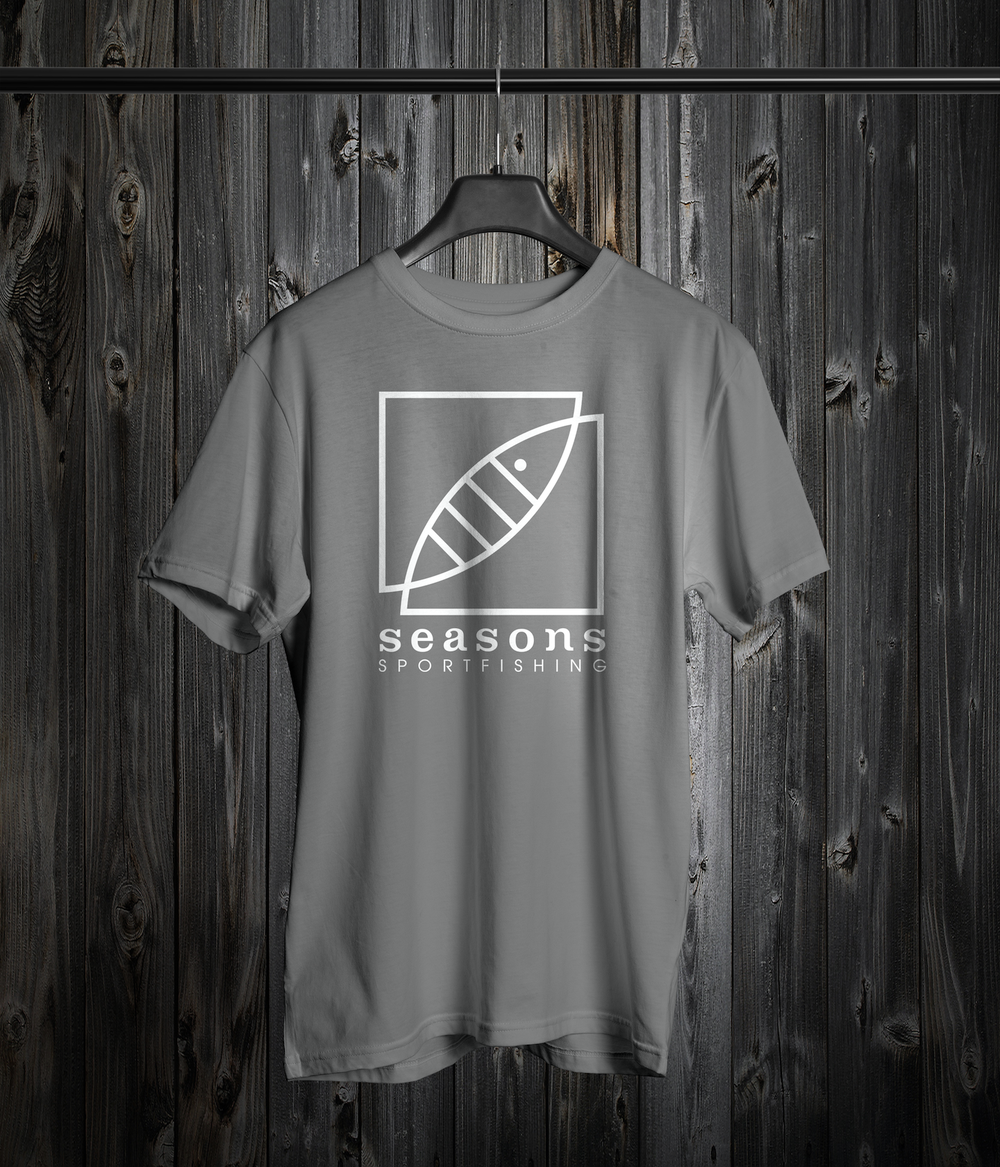 Image of SEASONS - GRAY- LOGO TEE