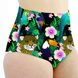Image of Tropical Jungle High Waisted Cheeky Shorts
