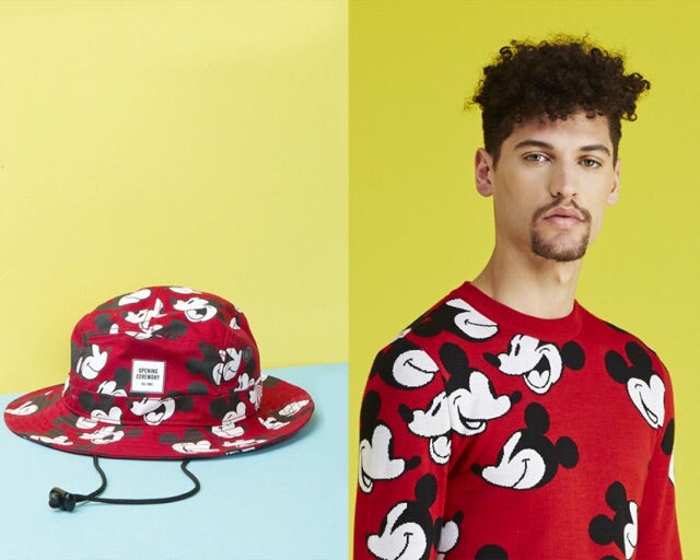 98cdbe84 Image of Mickey Mouse / Opening Ceremony Steamboat Willie Face Off New Era Bucket  Hat