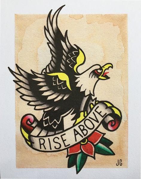 Image of Rise Above Eagle Print
