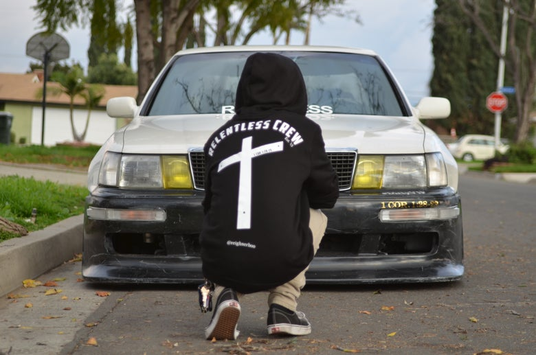 "Image of Relentless Crew ""Crucifix"" Hoodie (Black)"