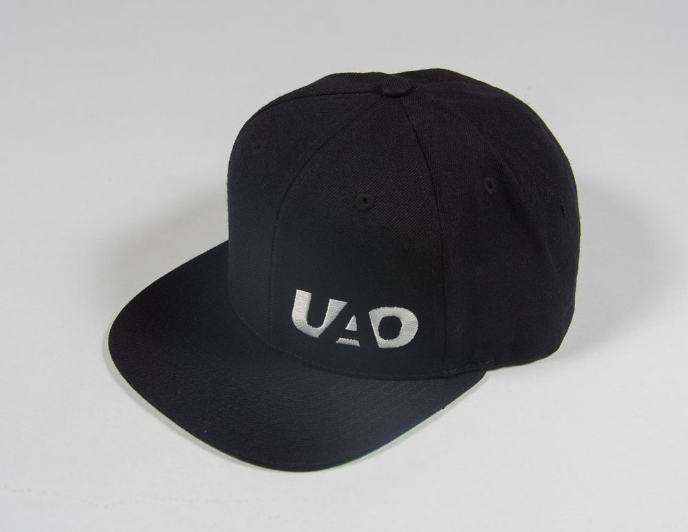 Image of UAO Clothing Co. Embroidered LM Logo Snapback Hats (Black)