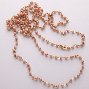 "Image of Peach Opal 54"" necklace"
