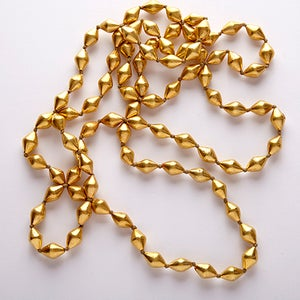 """Image of 60"""" gold beads"""