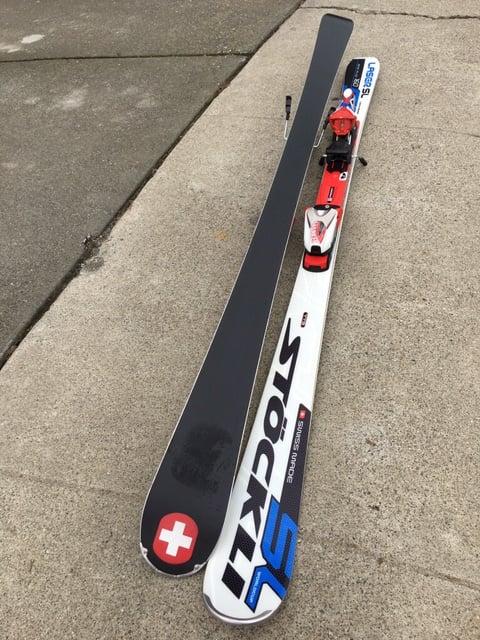 Image of Stokli TTS SL Laser 160 Skis with Marker Comp 16.0 bindings