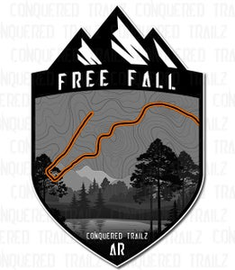 """Image of """"Free Fall"""" Trail Badge"""