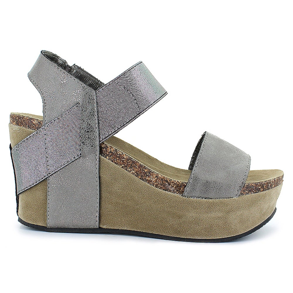 338331cfc1e2 Pewter Hester Wedge Sandal   Free State Clothiers