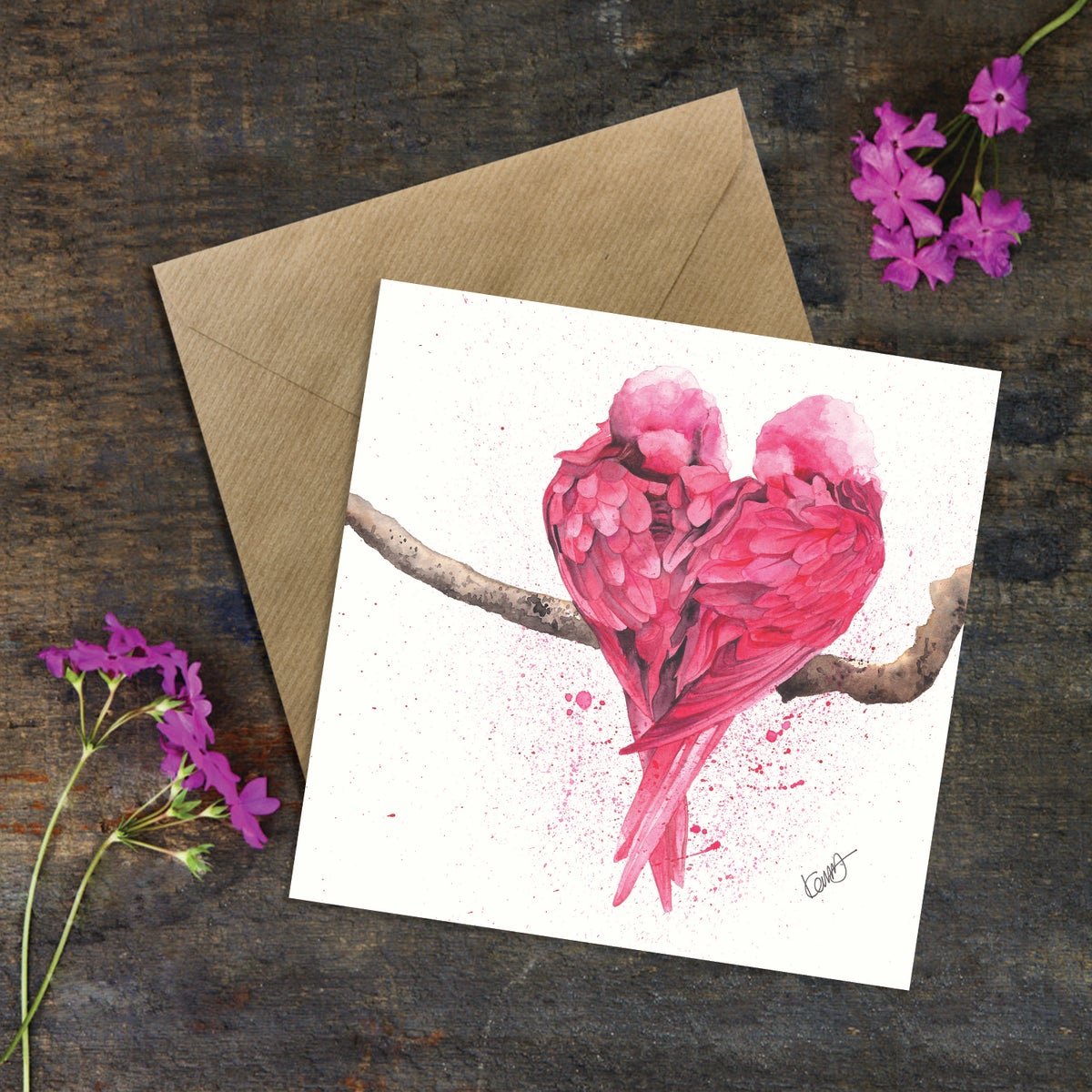 """Image of """"Love is..."""" Greeting Card"""