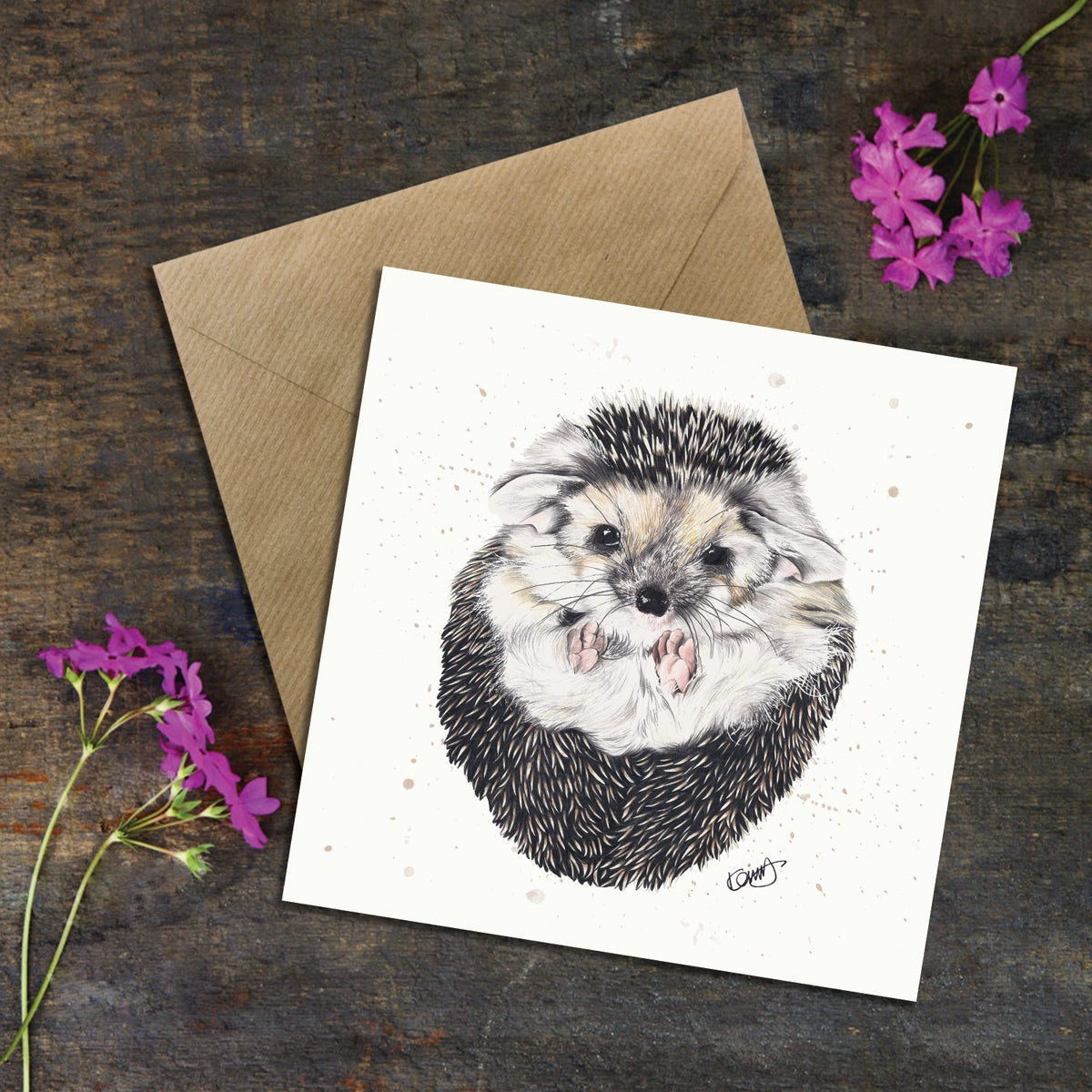 "Image of ""Primrose the Hedgehog"" Greeting Card"
