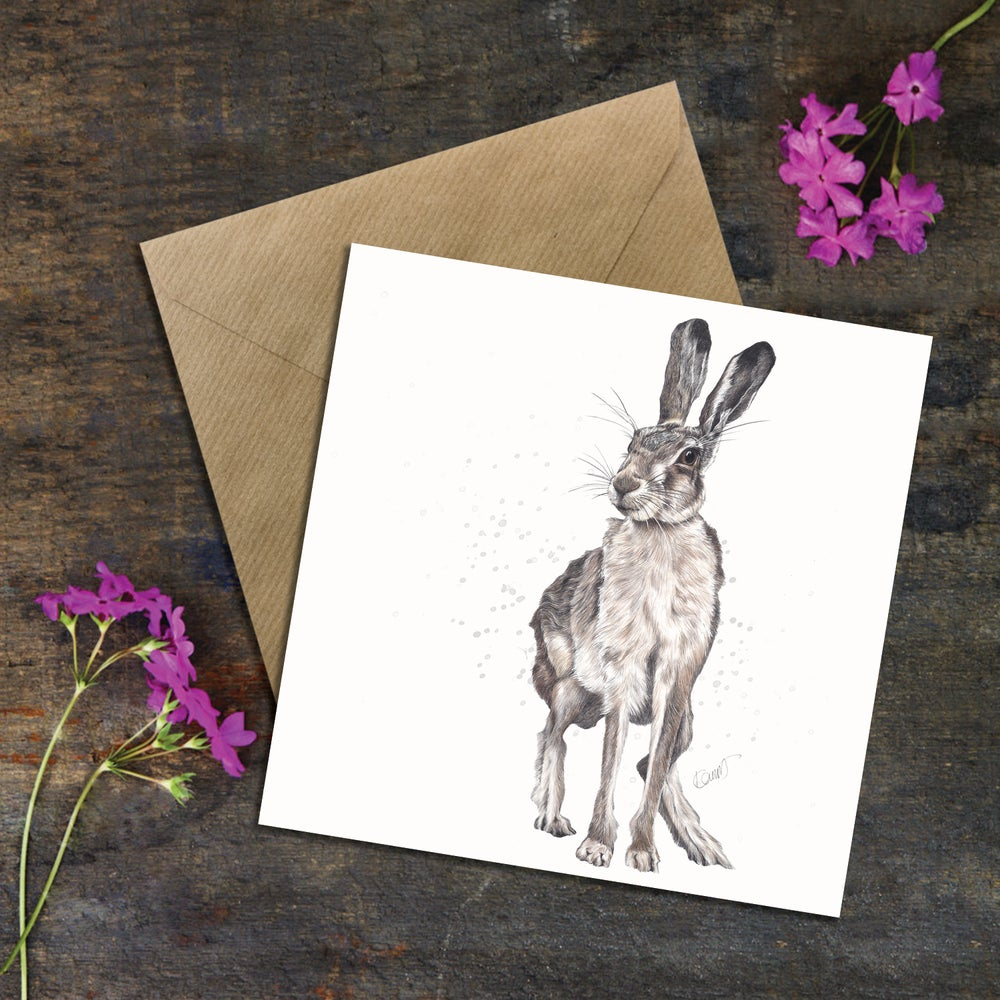 "Image of ""Harry the Hare"" Greeting Card"