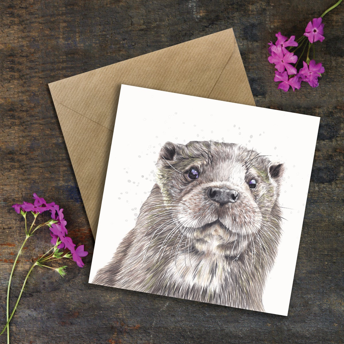 "Image of ""Ozzy Otter"" Greeting Card"