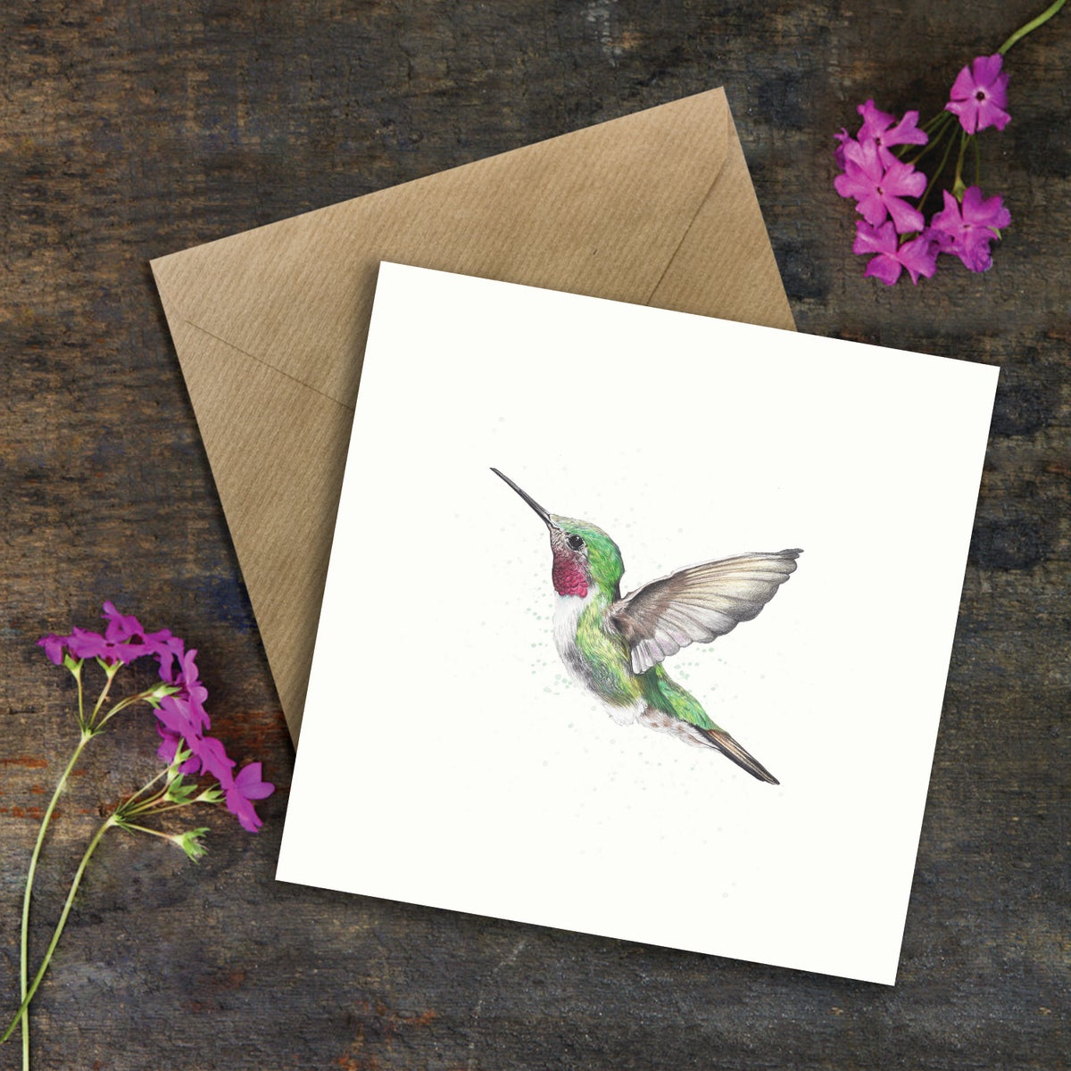 "Image of ""My Little Hummingbird"" Greeting Card"