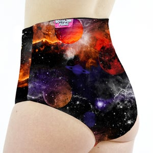 Planet Space High Waisted Cheeky Shorts
