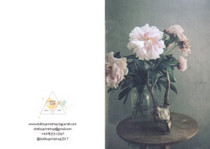 Image of 'Peony'. Greetings card.