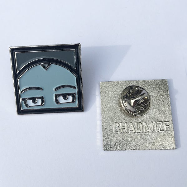Image of CHIZZY HEAD Enamel Pin (Grey)