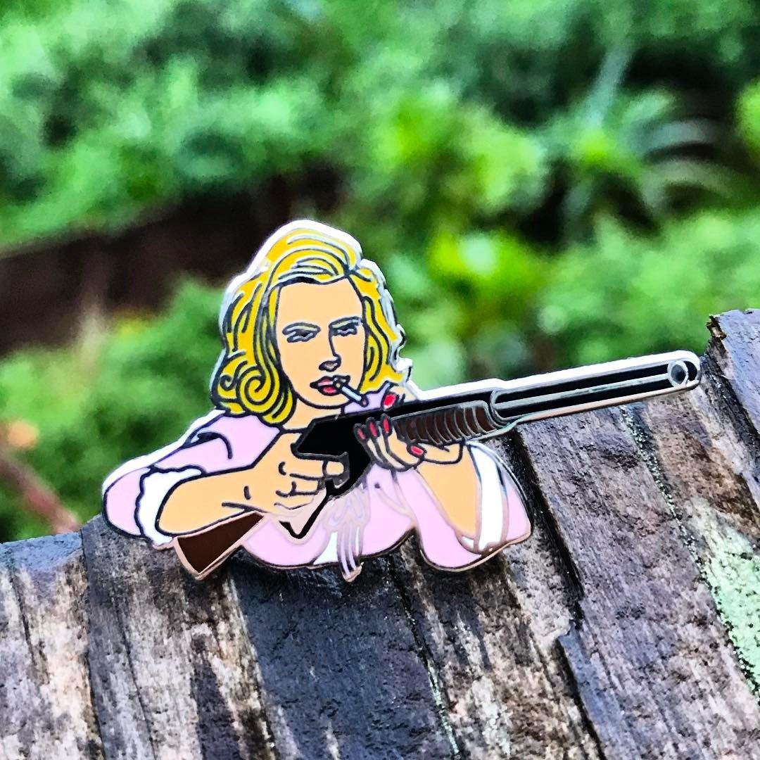 Image of Mad Men tribute - Betty Draper / Birdie pin