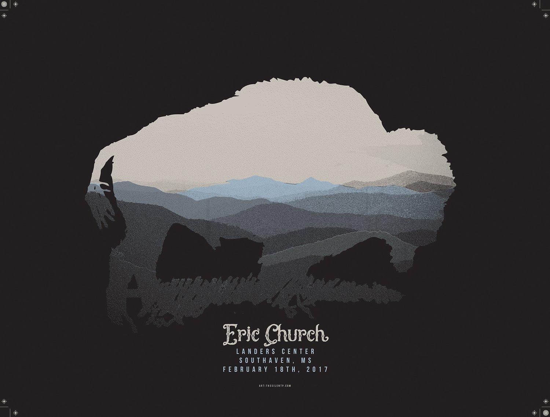Image of Eric Church Buffalo Poster