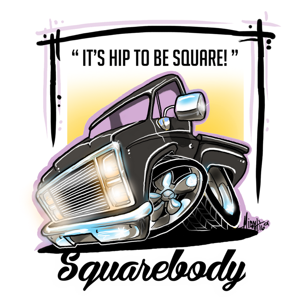 Image of SQUAREBODY...It's hip to be square!  (black)