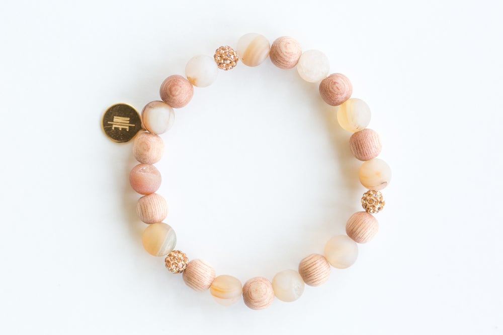 Image of stylish ME frosted pink crazy agate