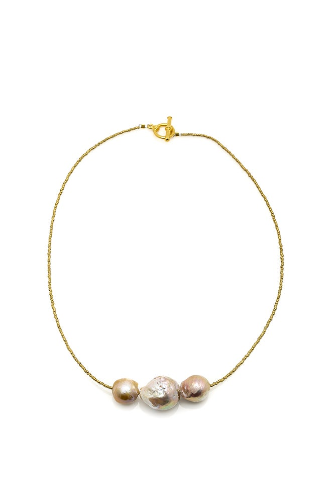 Image of Simple African Spacer Pearl Necklace