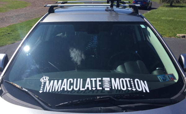 "Image of 30"" Immaculate Motion Windshield Banner"