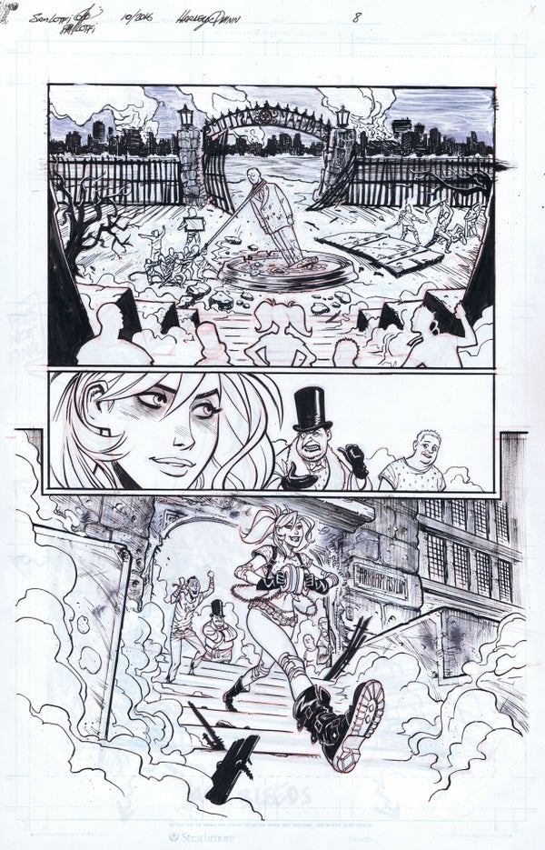 Image of DC NEW TALENT SHOWCASE HARLEY QUINN PAGE 8 ORIGINAL ART