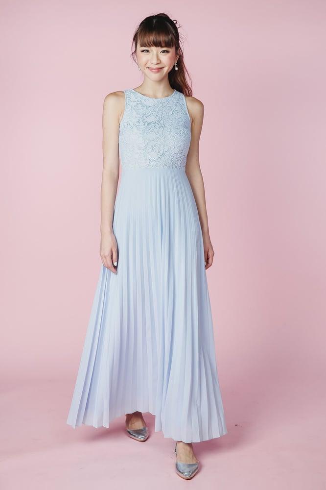 Au Brides Love — Long elegant sky blue dress e495e8c3e