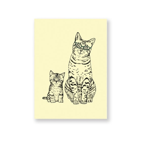 Image of Carte postale Maman et Chaton