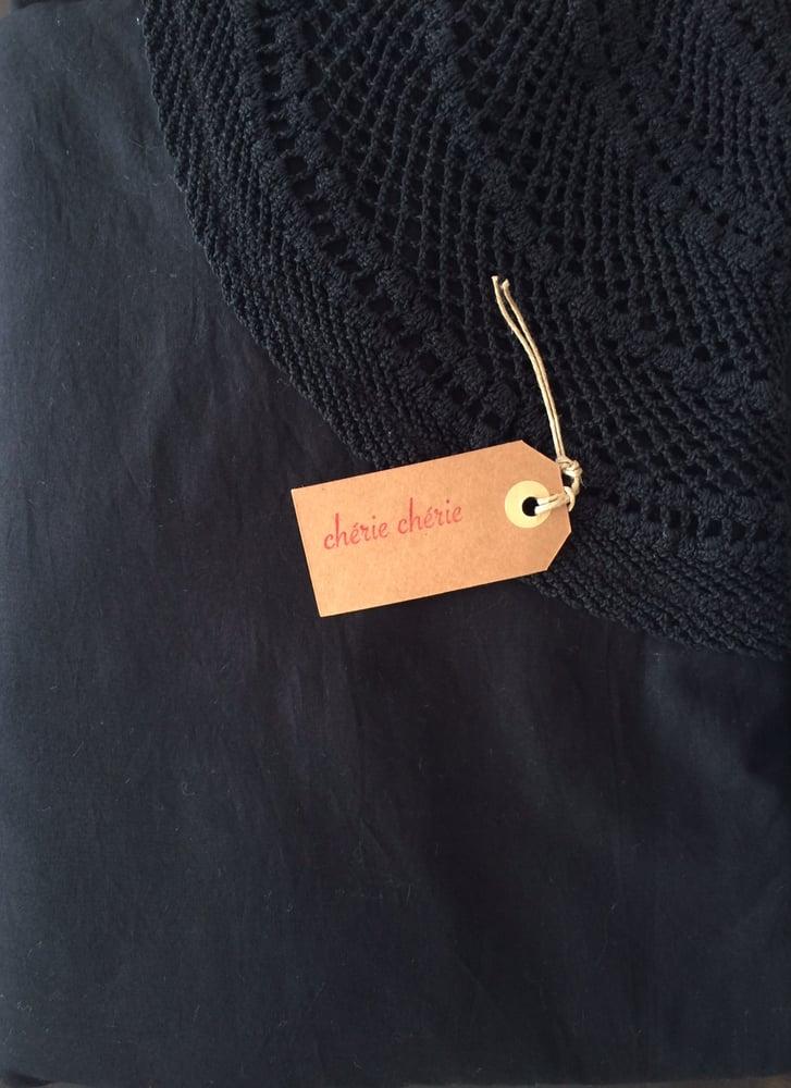 Image of Chérie Chérie Rideau Noir Voile de Coton
