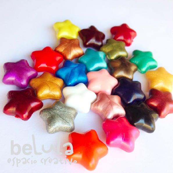 Image of Minilacre de colores en forma de estrella