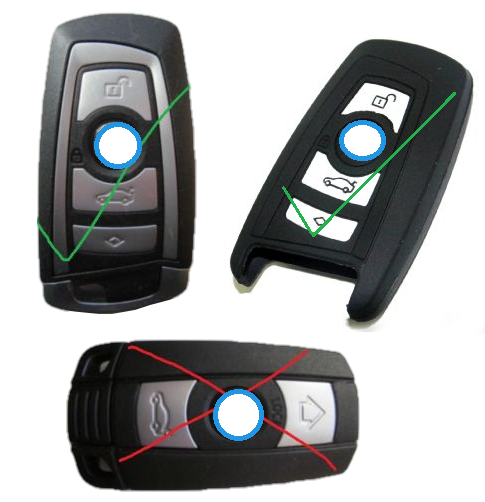 Image of Silicone Keyless Key FOB Case Cover Sleeve for BMW Remote 2 3 4 5 7 Series F10