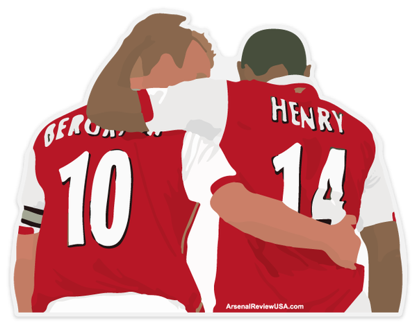 Image of Thierry Henry and Dennis Bergkamp Window Decal