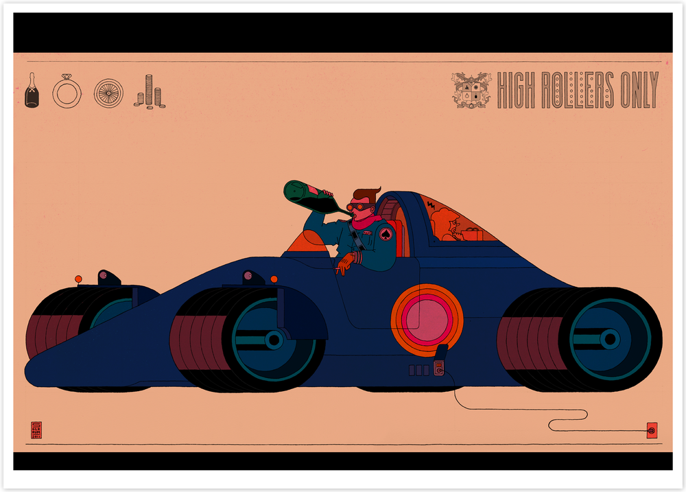 Image of High Rollers Only 2001 (70x50cm)