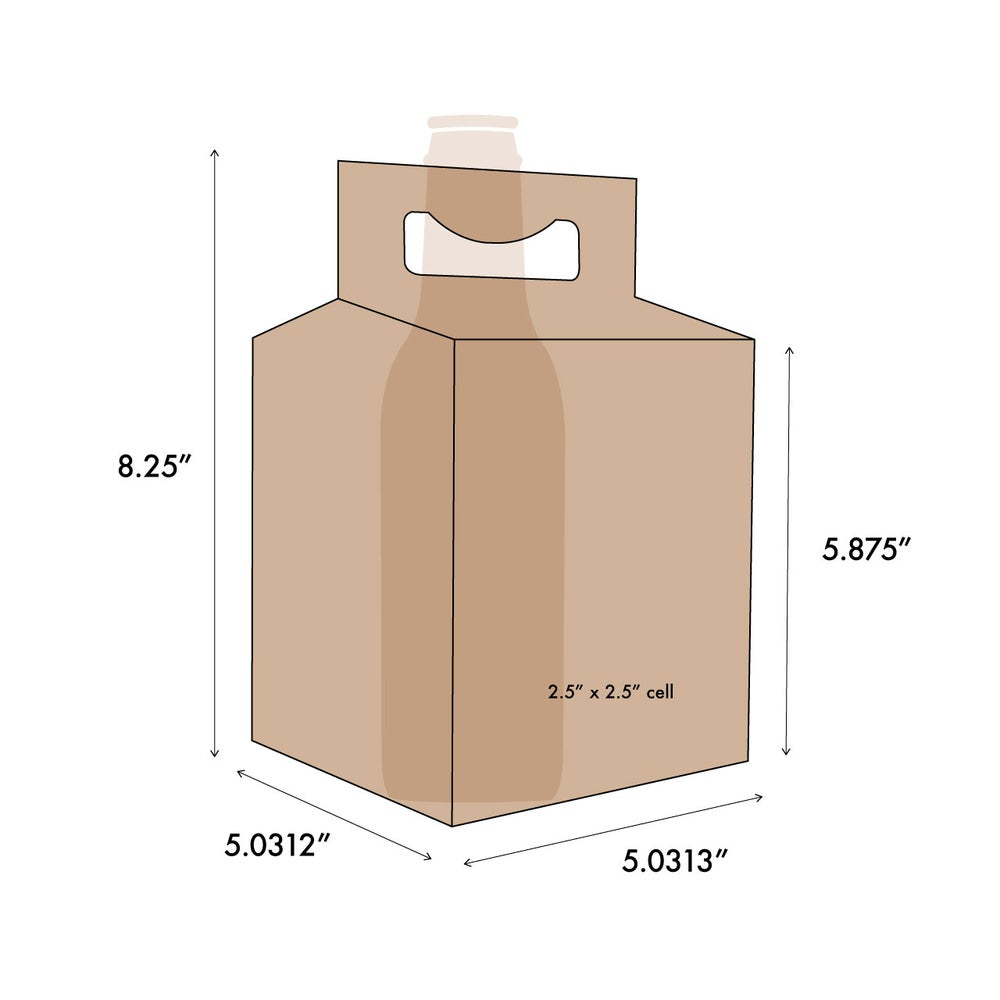 Image of 4 Pack Kraft Blank