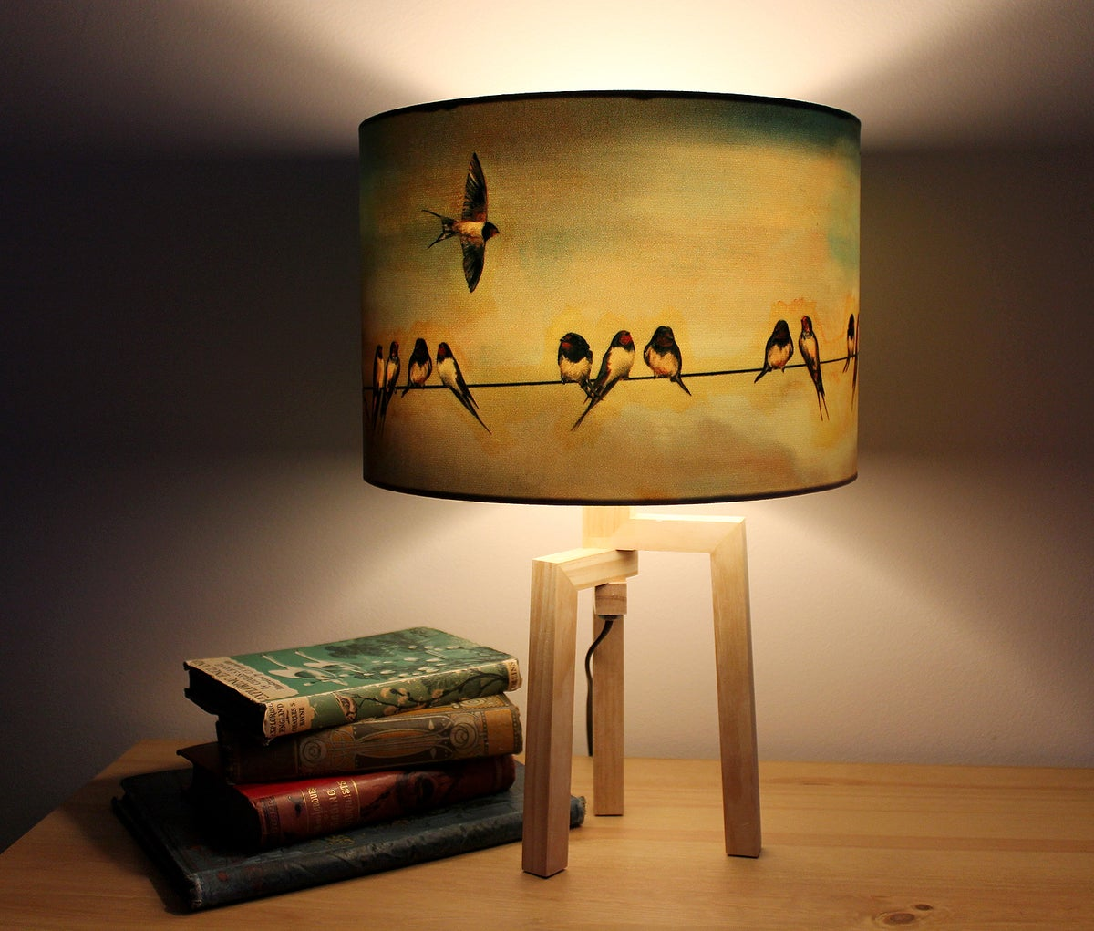 Home Design Ideas Facebook: 'Swallows' Drum Lampshade By Lily Greenwood (30cm, Table