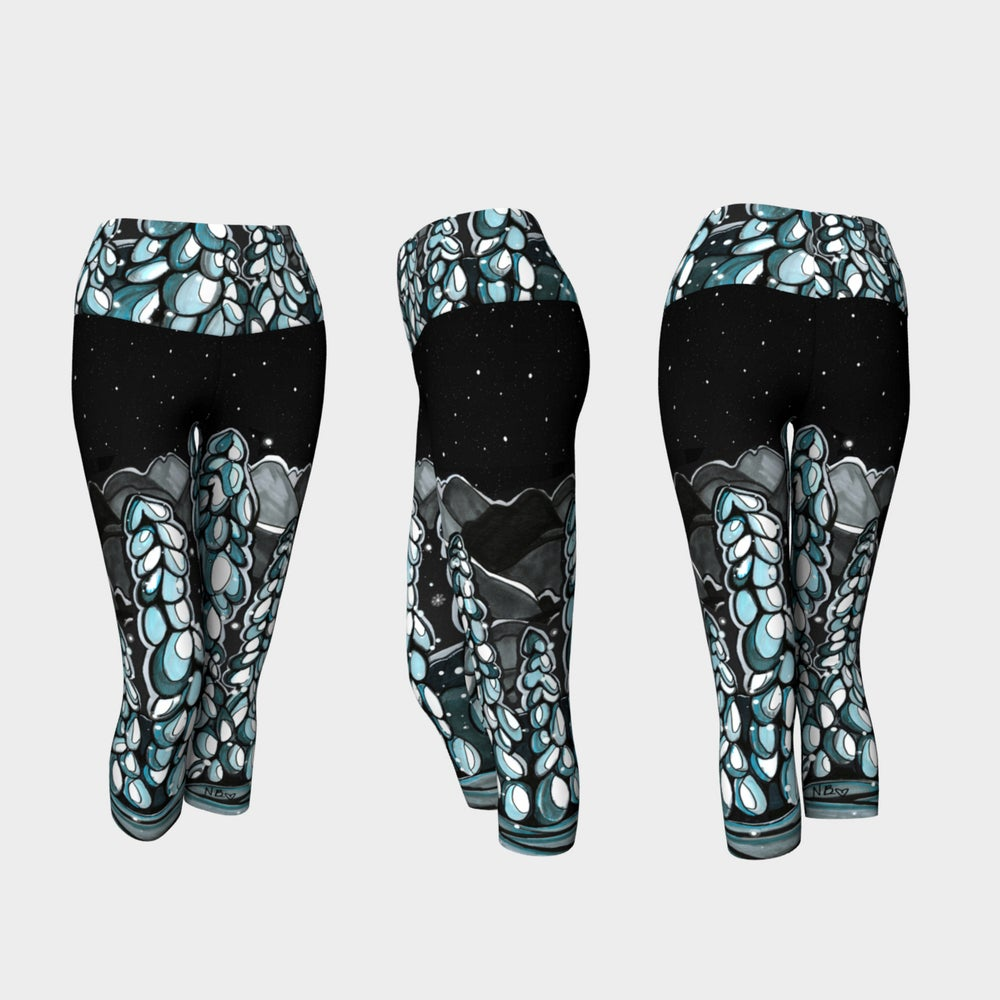 Image of Snowy Trees Capri Leggings
