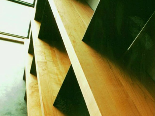 Image of maple shelving