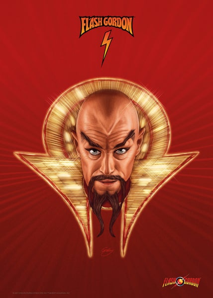 Image of Ming the Merciless A3 (officially licensed)