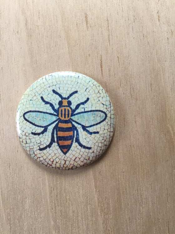 Image of Manchester Worker Bee Tile Fridge Magnet