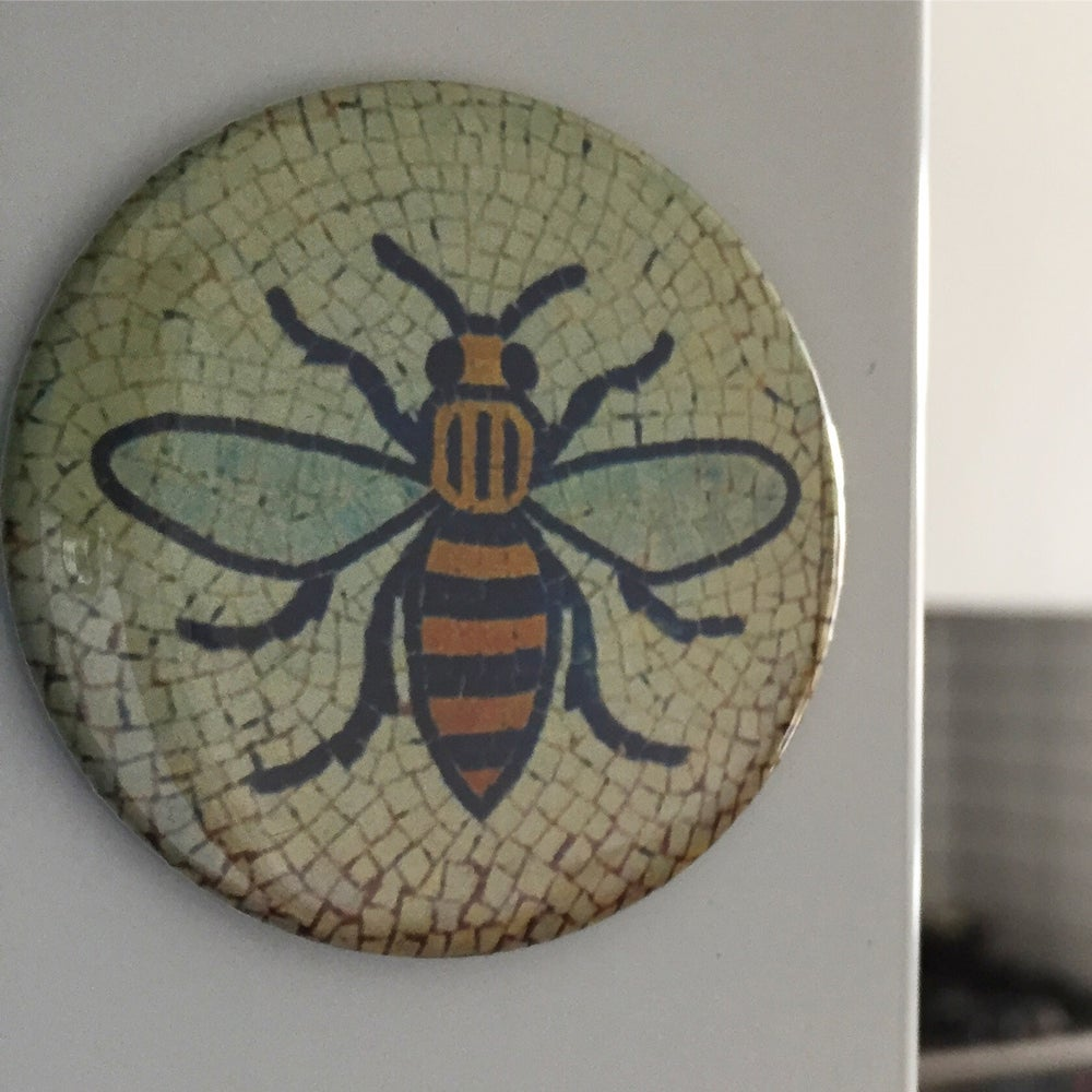 Image of Manchester Worker Bee Tile Fridge Magnet