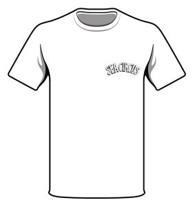 "Image of White ""Sea Circus""  Logo T'Shirt"