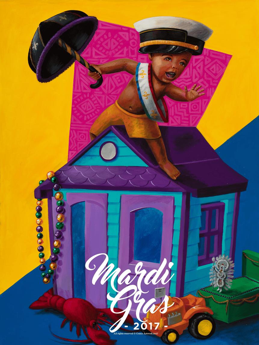 Image of Mardi Gras Poster 2017