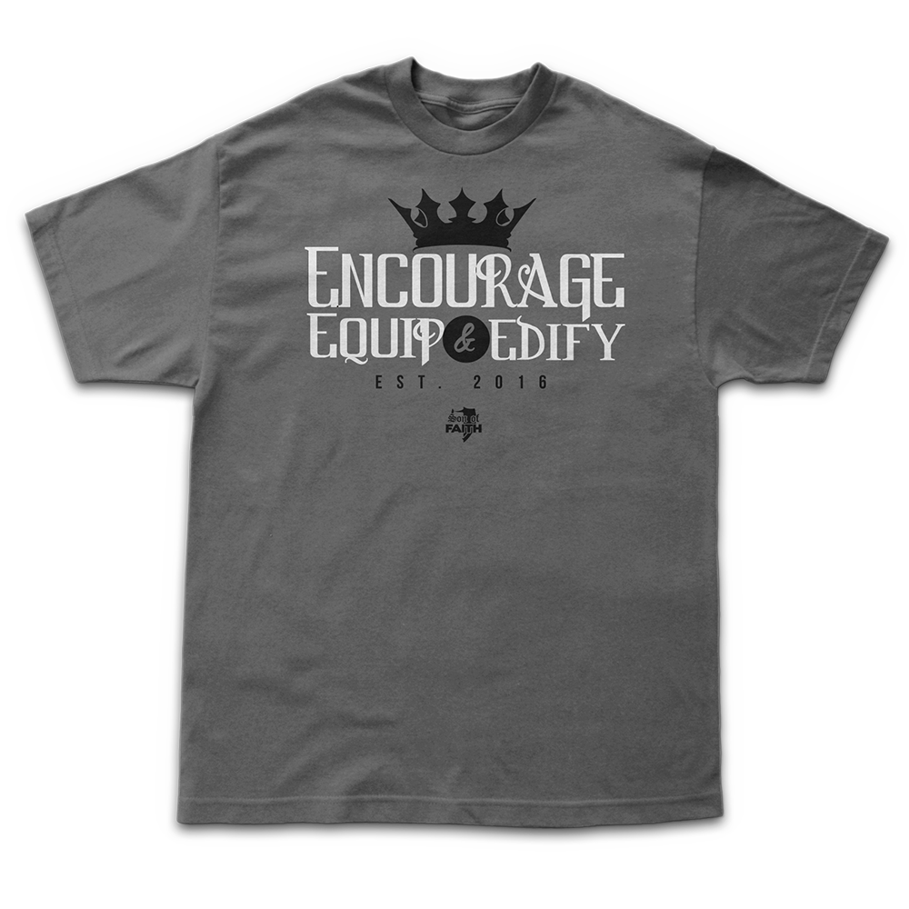 Image of Encourage, Equip & Edify - Charcoal