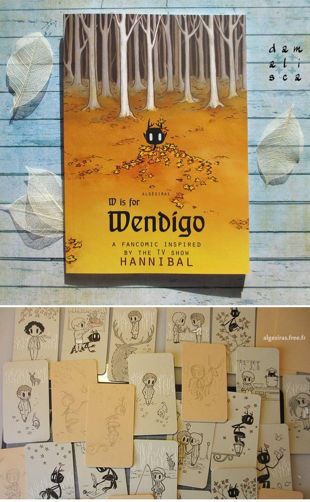 Image of W is for Wendigo (book 2) + original doodle