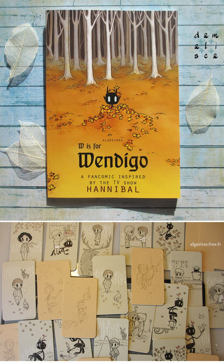 Image of W is for Wendigo (book 2) + original doodle