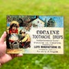 Cocaine Toothache Drops<br>Man Cave Metal Sign