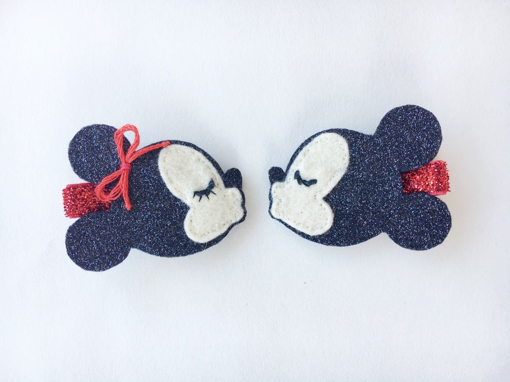 Image of Mickey & Minnie Love Clips - PREORDER