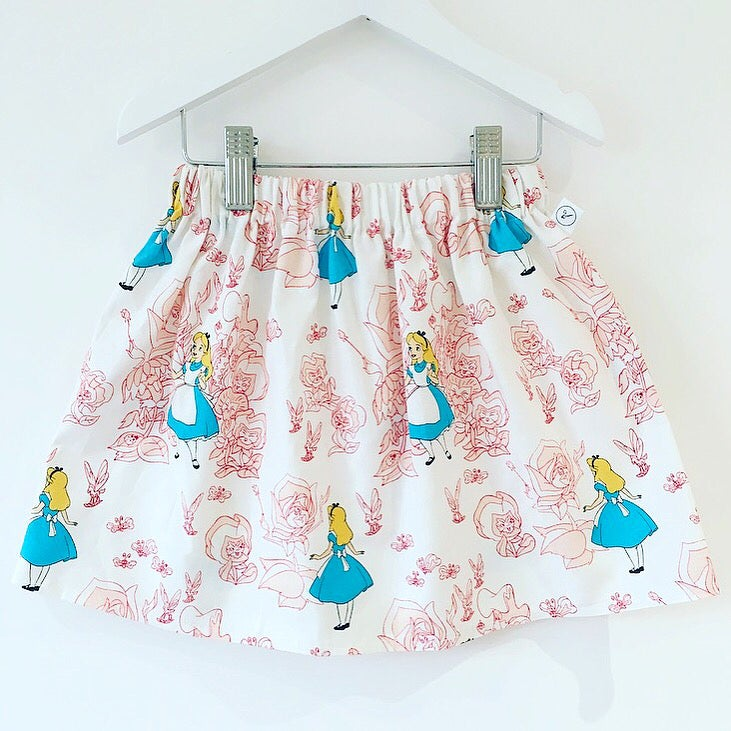 Image of Alice in Wonderland Style Skirt